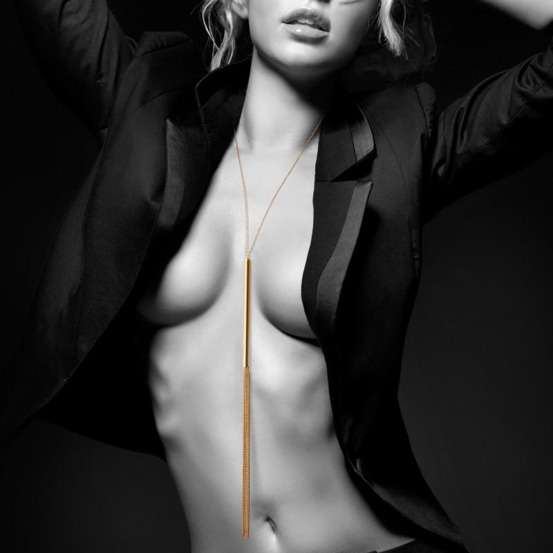 Collier Fouet or- bijoux sensuels- lingerie sexy- érotique