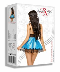 babydoll-satin-masque-dentelle-eve-noir-turquoise-beauty-night