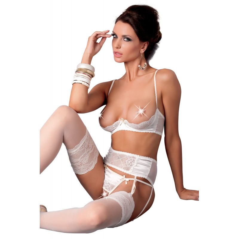 -Aurelia- Ensemble blanc sexy lingerie