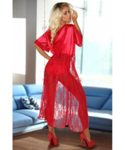 electra red peignoir sexy nuisette sensuelle lingerie rouge