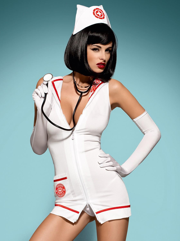 emergency costume blanc - robe médicale sans le stétoscope