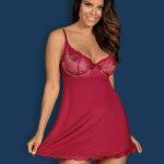 babydoll rosalyne - babydoll sexy rouge