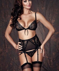 Ensemble Sapphira 3 pcs - ensemble noir sexy